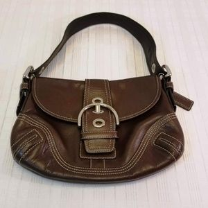 Like New Condition Coach Stitched Flap Hobo Bag